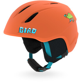 Giro Launch Casco Bambino, matte deep orange dinosnow